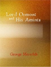 Cover of: Lord Ormont and His Aminta | George Meredith