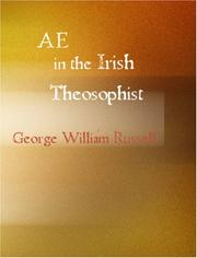 Cover of: AE in the Irish Theosophist by George William Russell