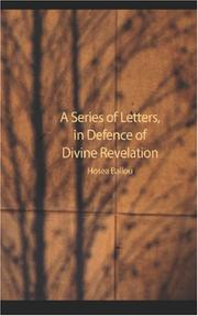 Cover of: A Series of Letters in Defence of Divine Revelation | Hosea Ballou