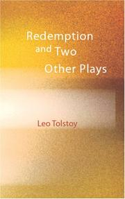 Cover of: Redemption and Two Other Plays | Tolstoy