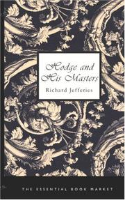 Cover of: Hodge and his masters | Richard Jefferies