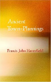 Cover of: Ancient Town-Planning | Francis John Haverfield