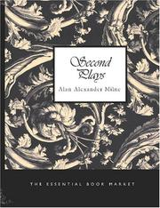 Cover of: Second plays by A. A. Milne