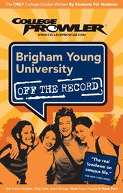 Cover of: Brigham Young University UT 2007 | College Prowler