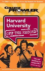 Cover of: Harvard University Ma 2007 by Dominic Hood