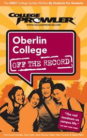 Cover of: Oberlin College 2007 | Sarah LeBaron von Baeyer