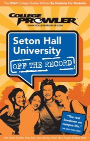Cover of: Seton Hall University NJ 2007 | College Prowler