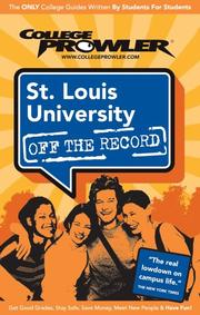 Cover of: St. Louis University 2007 | Drew Ewing