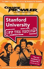 Cover of: Stanford University CA 2007 (Off the Record) by Ian Spiro