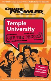 Cover of: Temple University Pa 2007 by College Prowler