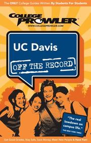 Cover of: UC Davis 2007 by Tristen Chang