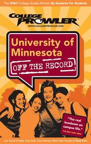 Cover of: University of Minnesota 2007 | Amy S. Palmer