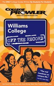 Cover of: Williams College 2007 by College Prowler
