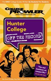Cover of: Hunter College by Adrian Sharp