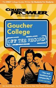 Cover of: Goucher College | Ashley Moss