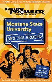 Cover of: Montana State University | College Prowler