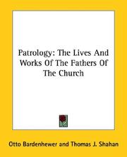 Cover of: Patrologie | Otto Bardenhewer
