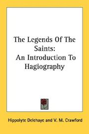 Cover of: Légendes hagiographiques by Hippolyte Delehaye