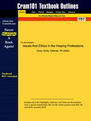 Cover of: Issues and Ethics in the Helping Professions | Corey