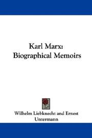 Cover of: Karl Marx | Wilhelm Liebknecht