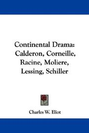 Cover of: Continental Drama | Charles W. Eliot