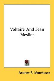 Cover of: Voltaire And Jean Meslier | Andrew R. Morehouse