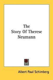 Cover of: The story of Therese Neumann | Albert Paul Schimberg