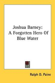Cover of: Joshua Barney | Ralph Delahaye Paine