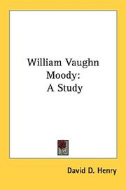 Cover of: William Vaughn Moody | David D. Henry