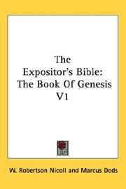 Cover of: The Expositor's Bible | Marcus Dods
