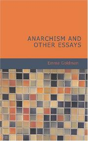 Cover of: Anarchism and Other Essays by Emma Goldman