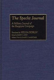 Cover of: The Specht Journal | Helga Doblin