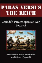 Cover of: Paras versus the Reich by Bernd Horn