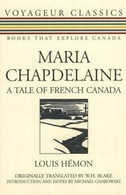 Cover of: Maria Chapdelaine | Louis Hemon