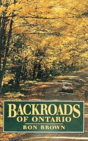 Cover of: Backroads of Ontario by Ron Brown