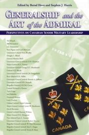 Cover of: Generalship and the Art of the Admiral by Bernd Horn