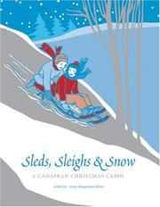 Cover of: Sleds, Sleighs and Snow by Anne Tempelman-Kluit