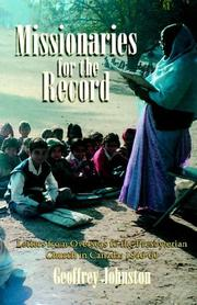 Cover of: Missionaries for the record | Geoffrey Johnston