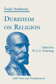 Cover of: Durkheim on Religion | Émile Durkheim