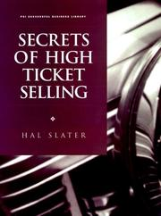 Cover of: Secrets of high ticket selling | Hal Slater