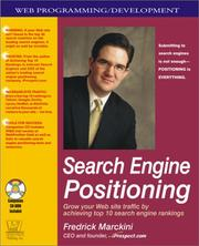 Cover of: Search Engine Positioning | Fredrick W. Marckini