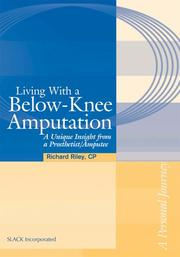 Cover of: Living with a Below-Knee Amputation | Richard Lee Riley