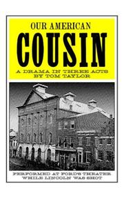 Cover of: Our American Cousin | Tom Taylor