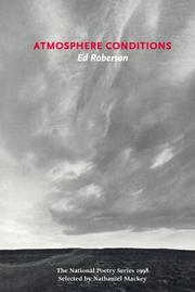Cover of: Atmosphere Conditions | Ed Roberson