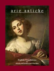 Cover of: Arie Antiche English Translations (Tr from Ital) by Dorothy Richardson
