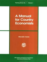 Cover of: A manual for country economists by Marcello Caiola