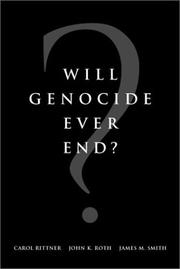 Cover of: Will Genocide Ever End? | Aegis (Organization)