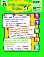 Cover of: Daily Language Review, Grade 3 by Laura B. Williams