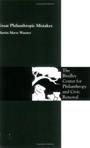 Cover of: Great Philanthropic Mistakes | Martin Morse Wooster