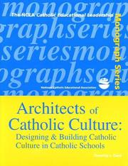Cover of: Architects of Catholic culture | Timothy J. Cook